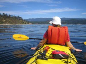 Savory Island kayaking